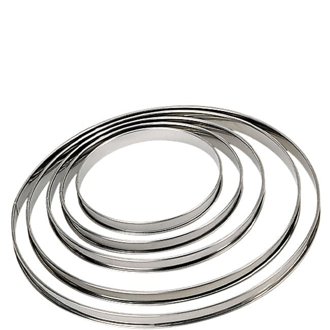 de Buyer Stainless Steel Pastry Ring with Rolled Edge