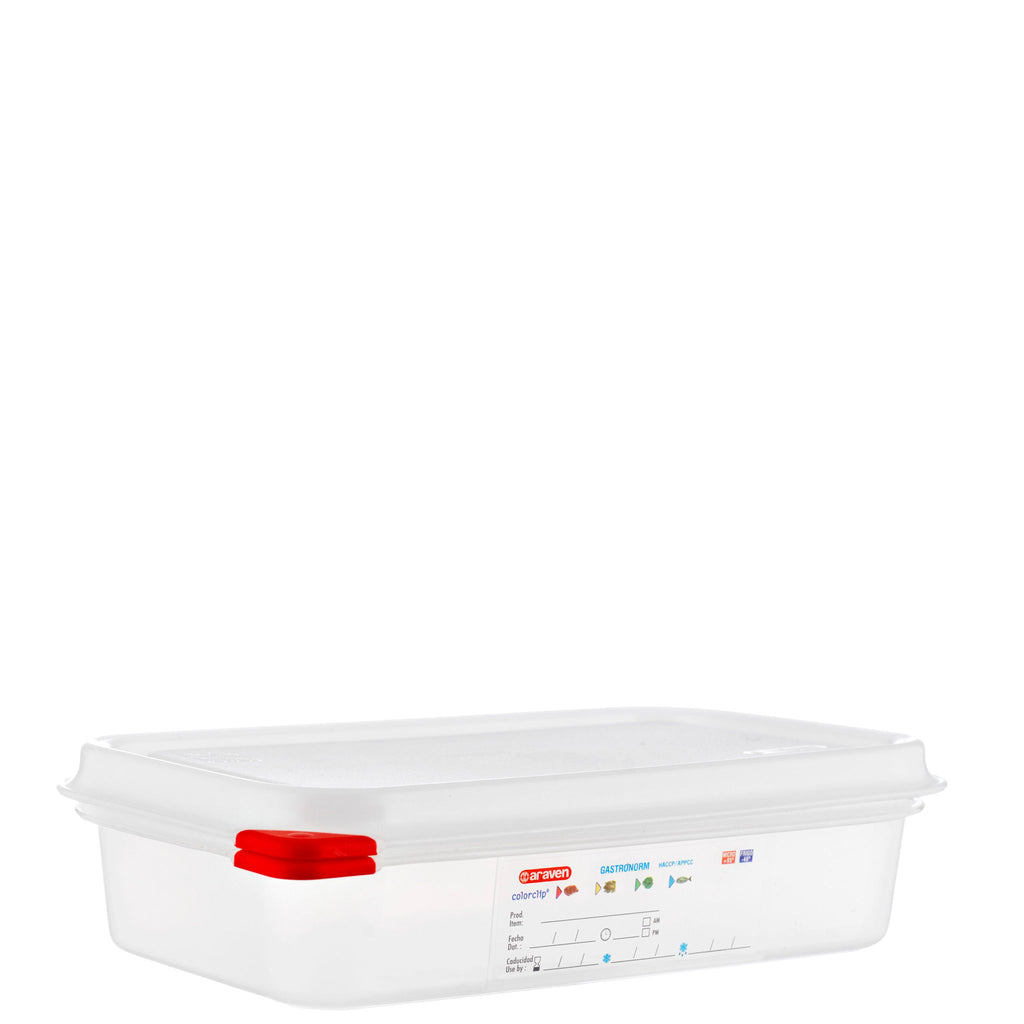 Araven 1/4 Airtight Gastronorm Container with Lid Polypropylene