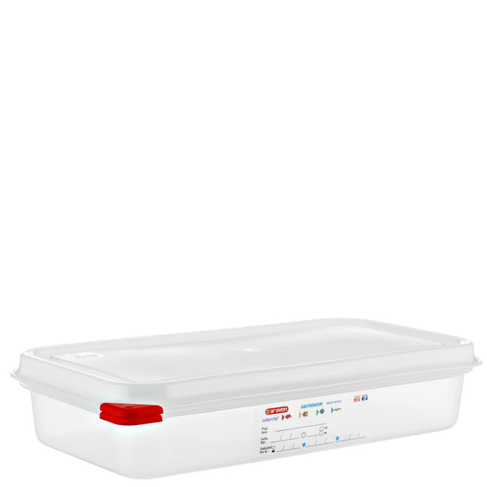 Araven 1/3 Airtight Gastronorm Container with Lid Polypropylene