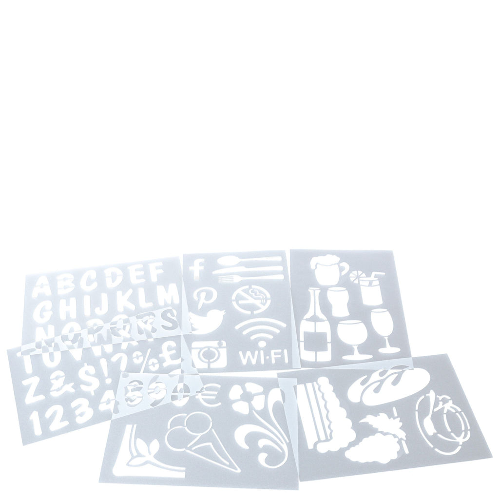Board Stencils Pack of 5