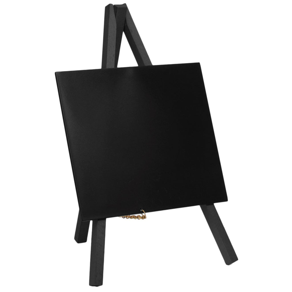 Mini Chalkboard Easel Black Wood