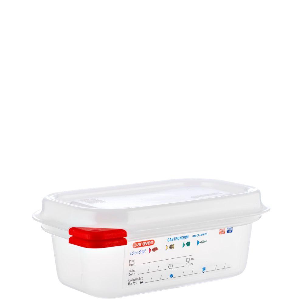 Araven 1/9 Airtight Gastronorm Container with Lid Polypropylene