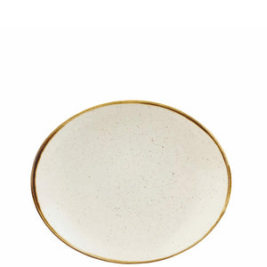 Churchill Stonecast Barley White Oval Coupe Plate