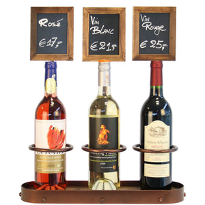 Wine Bottle Chalk Board Display (Triple)