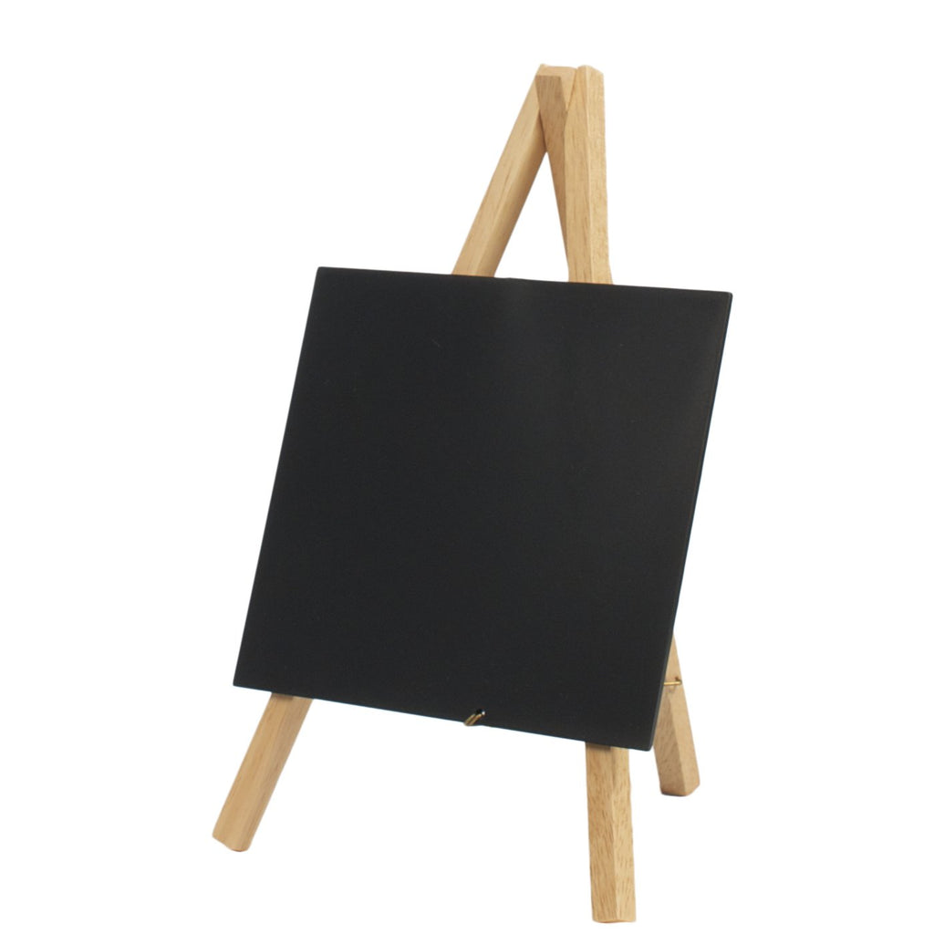 Mini Chalkboard Easel Natural Wood