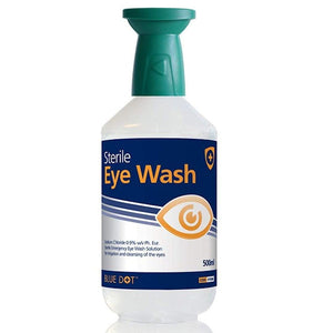 500ml Sterile Eyewash Solution with Inbuilt Eyebath