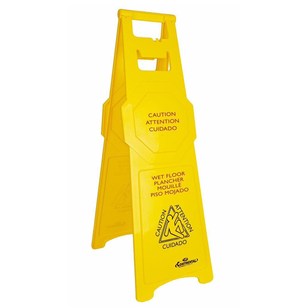Tall Caution Sign Multi-Lingual