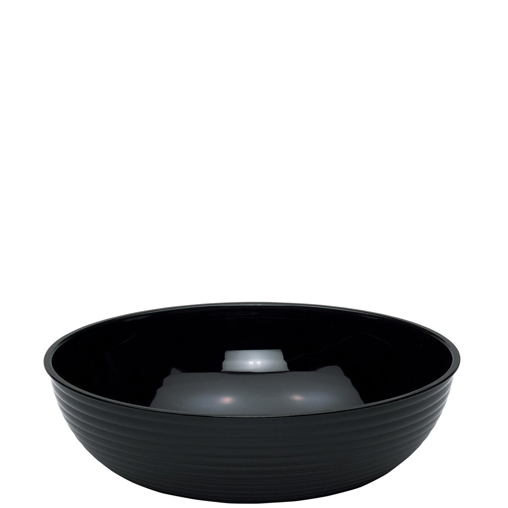Cambro Ribbed Round Bowl Black