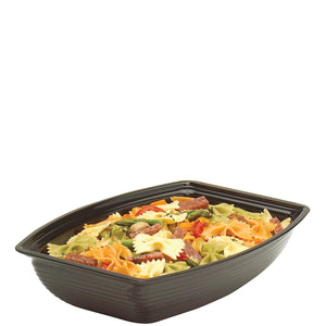 Cambro Ribbed Rectangle Bowl Black