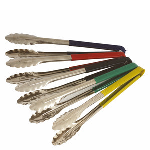 Colour Coded 30cm Stainless Steel Utility Tongs