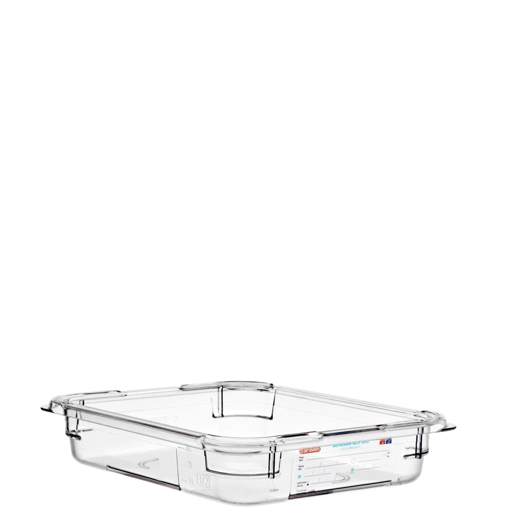 Araven 1/2 Airtight Gastronorm Container Polycarbonate