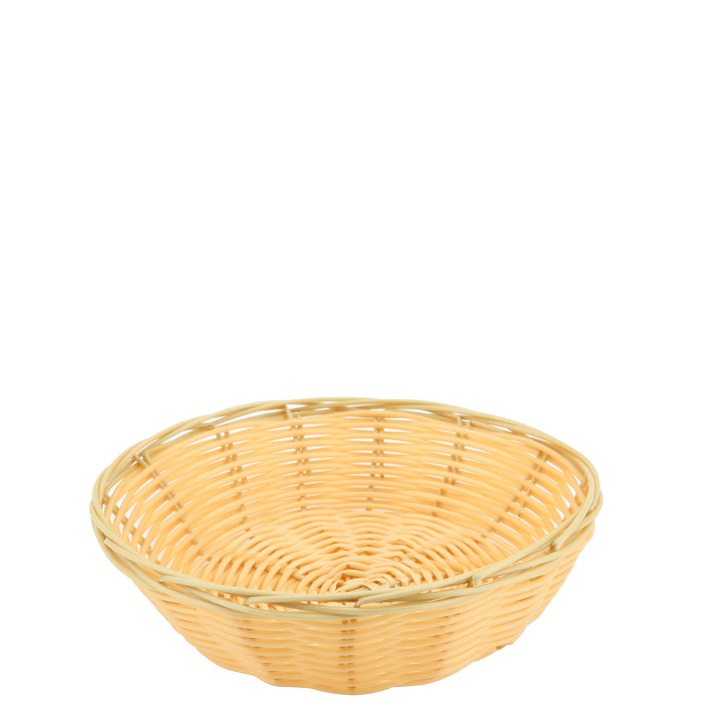 Round Natural Double Weave Polywicker Basket