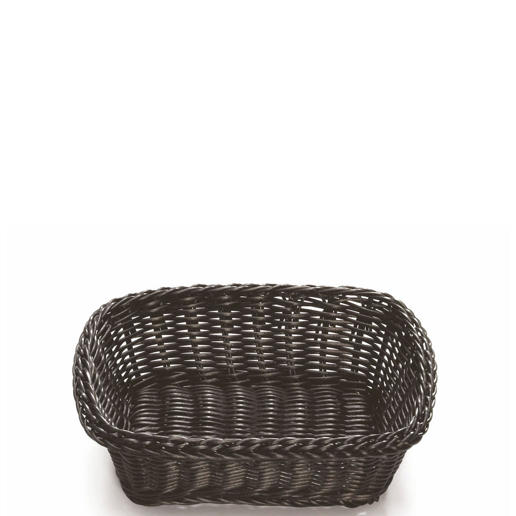 Rectangular Black Double Weave Basket