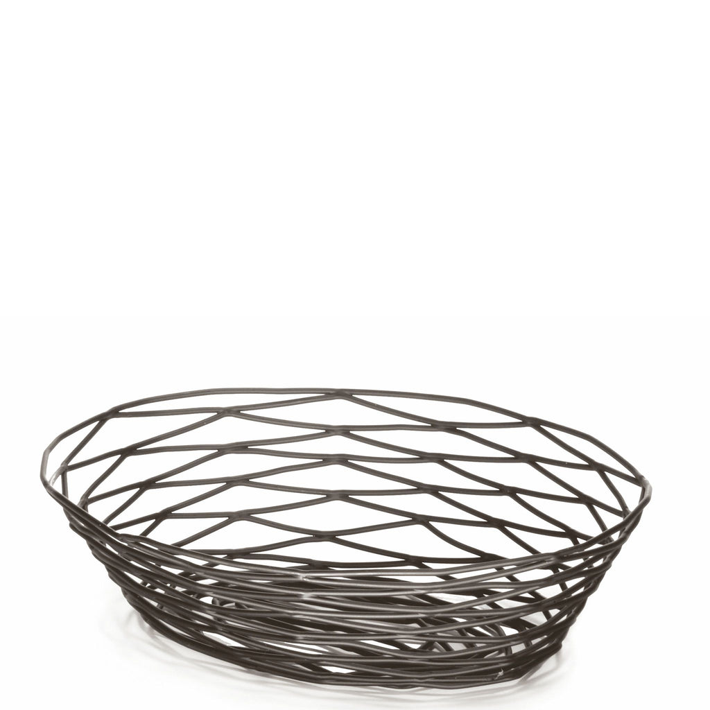 Black Oval Birds Nest Basket