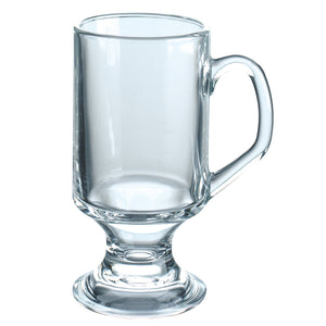 Arcoroc Footed Glass Coffee Mug 10oz