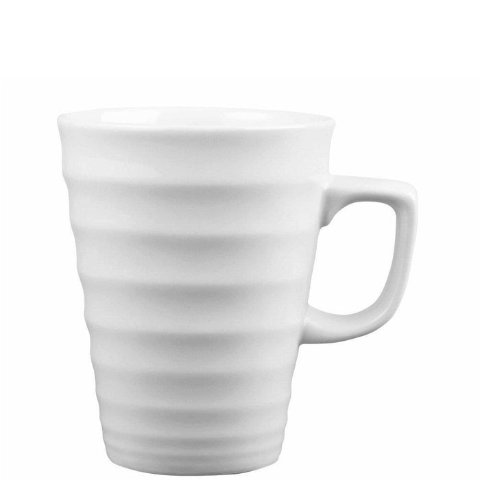 Churchill Ripple Latte White Mug