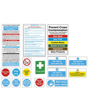 Senior Catering Hygiene Sign Pack