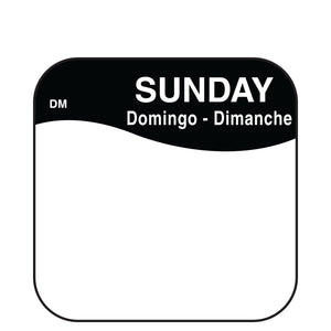 DayMark Dissolvable Plain Square Label - Day of the Week