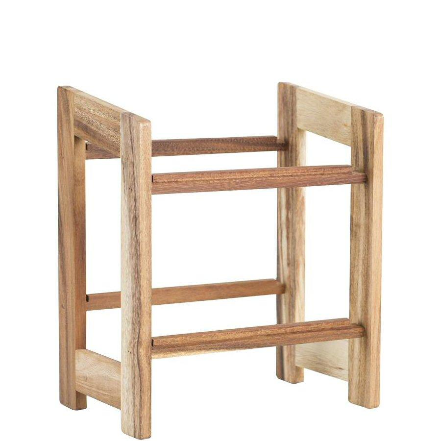 T&G Medium Display Rack for 2/3 Crates in Rustic Acacia
