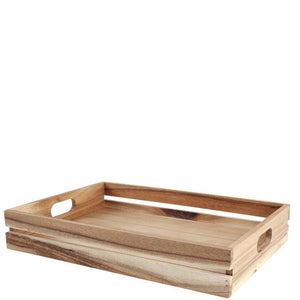 T&G Baroque Large Crate Plain Rustic Acacia