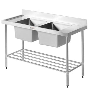 Simply Stainless Double Bowl Sink