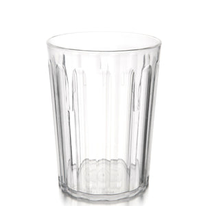 Polycarbonate Fluted Tumbler 23cl Clear