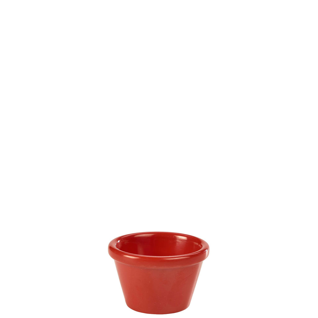 Red Smooth Ramekin