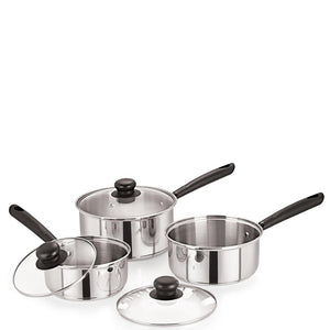 Medium Duty Gourmet Stainless Steel Saucepan with Lid