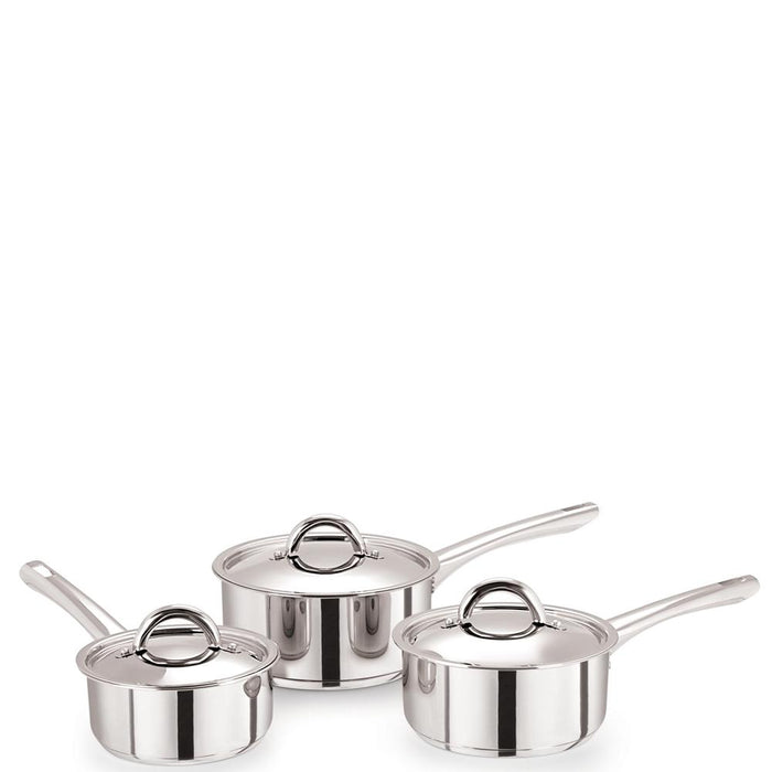 Medium Duty Classic Stainless Steel Saucepan with Lid