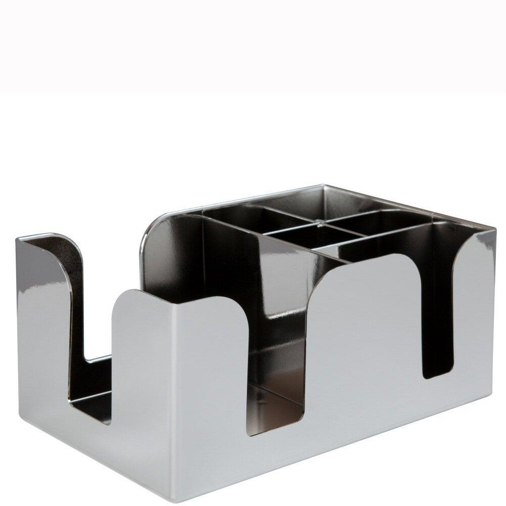 Chrome Plated Bar Caddy with Six Compartments