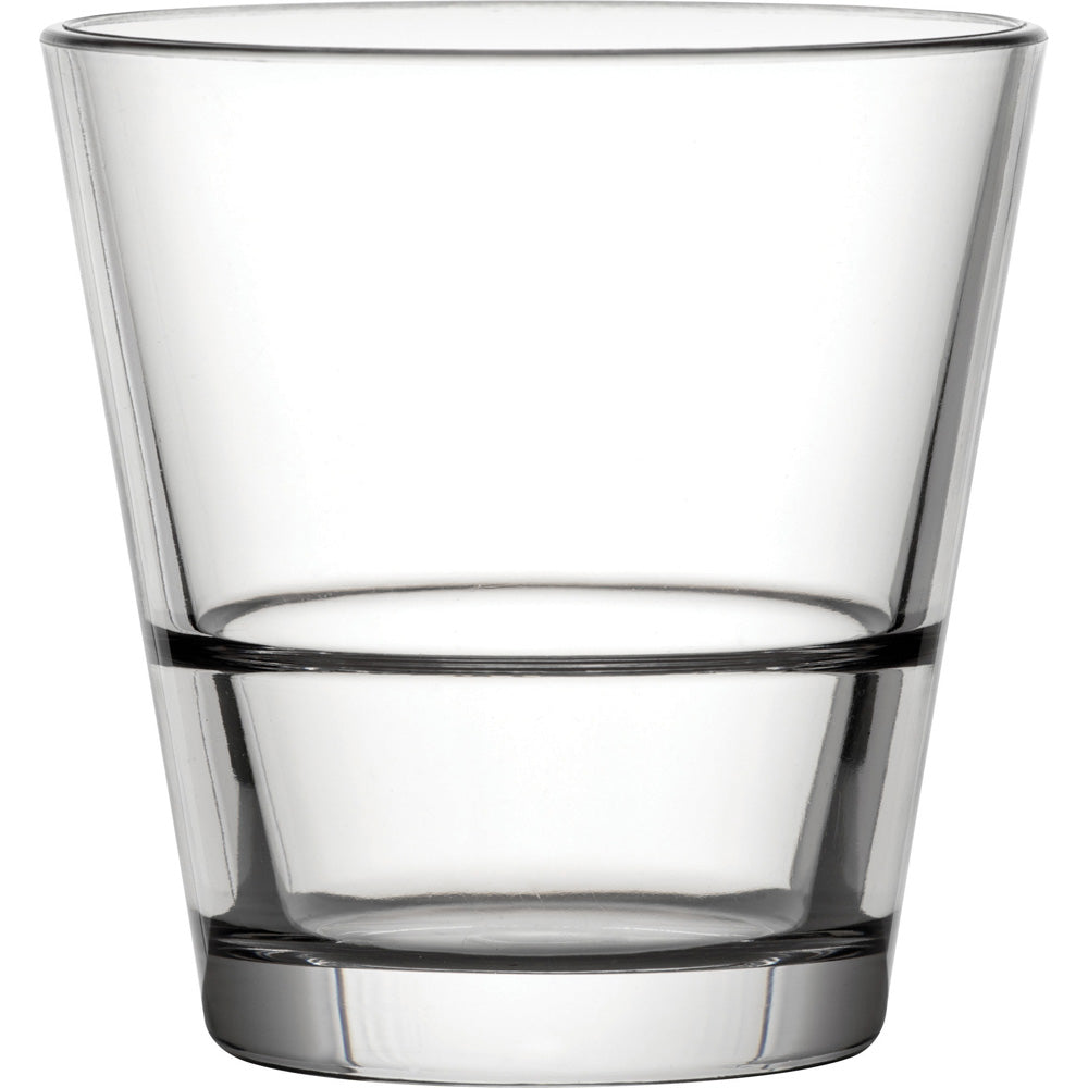 Utopia Venture Stacking 9oz Double Old Fashioned Glass Polycarbonate