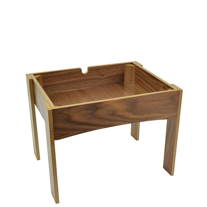 Dalebrook Walnut Vaneer MDF Stand Large