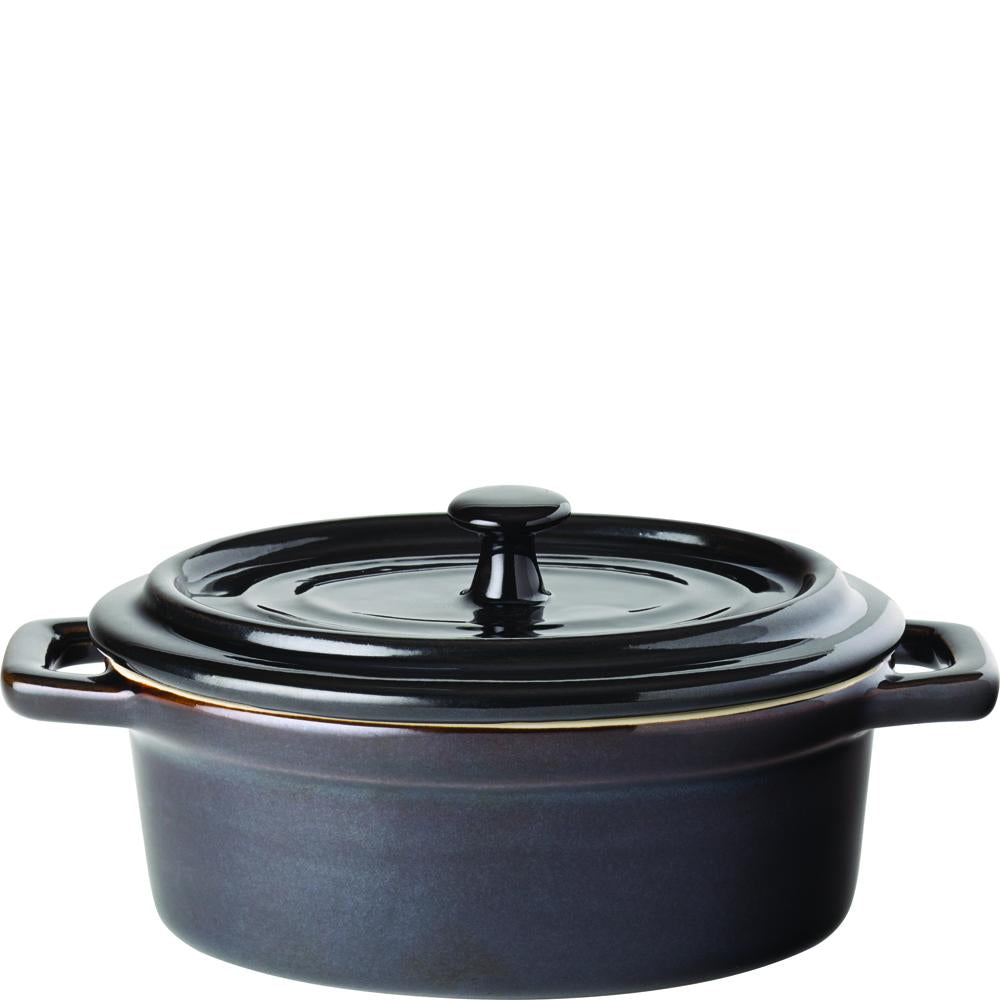 Gourmande Midnight Oval Casserole Dish