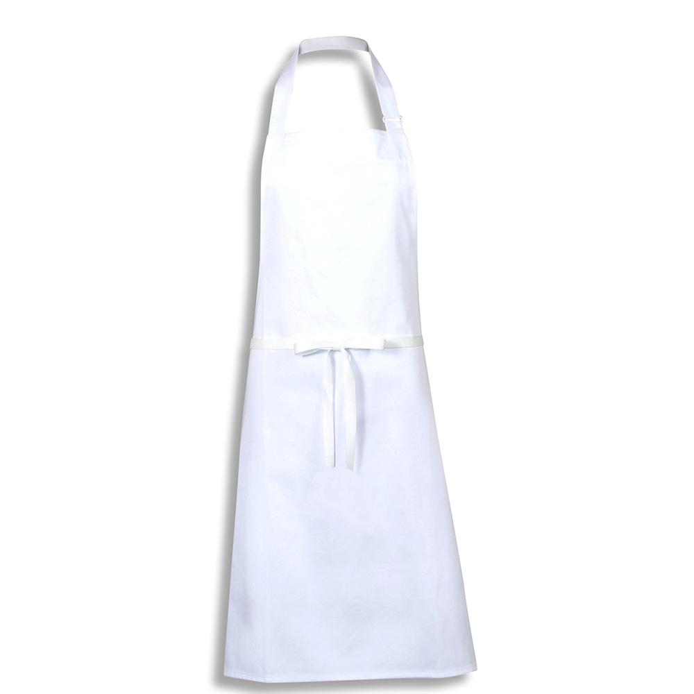 Bidfood White Bib Apron - Pack of 5