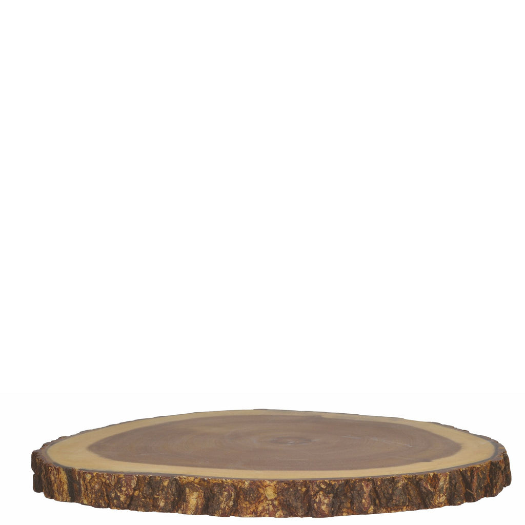 Tablecraft Round Bark Lined Display Board
