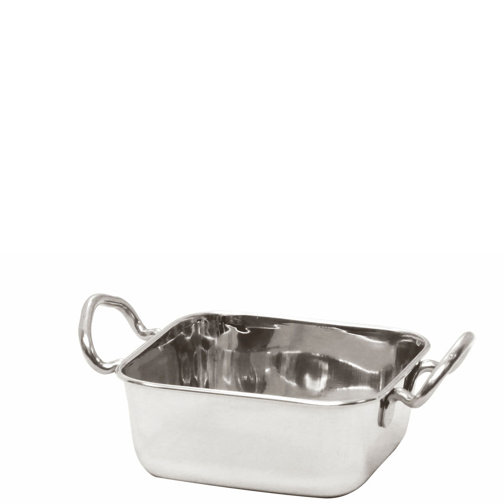 Mini Square Roaster Pan Stainless Steel 10cm