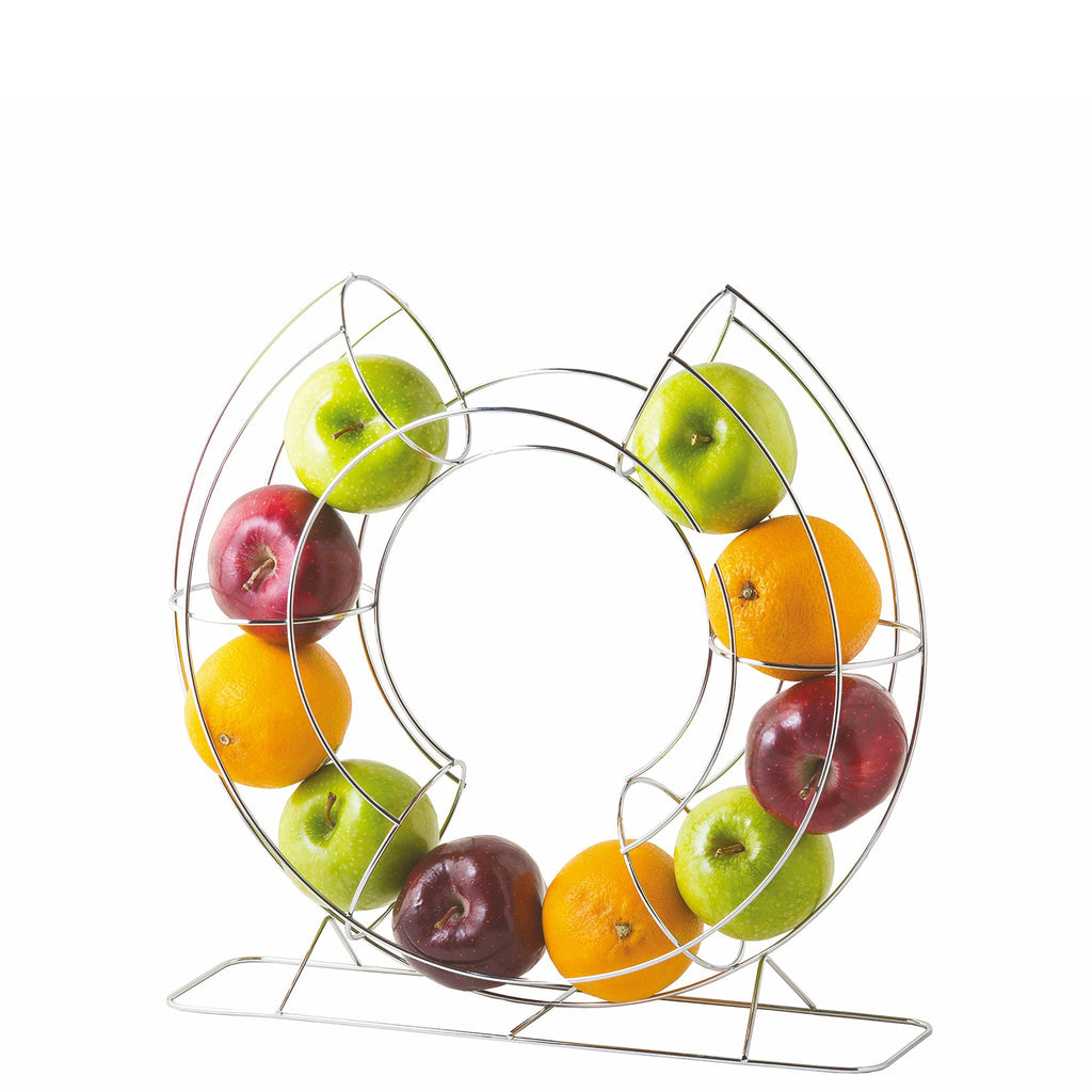 Circular Vertical Fruit Basket Chrome Plated