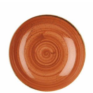 Churchill Stonecast Spiced Orange Coupe Bowl
