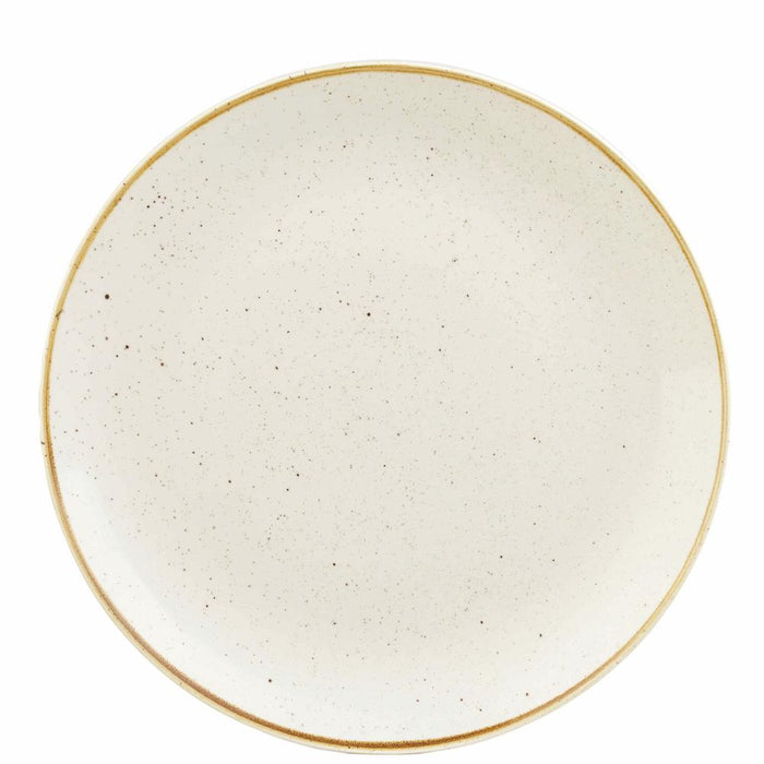 Churchill Stonecast Barley White Coupe Plate