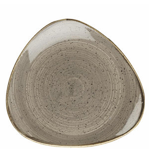 Churchill Stonecast Peppercorn Grey Lotus Plate