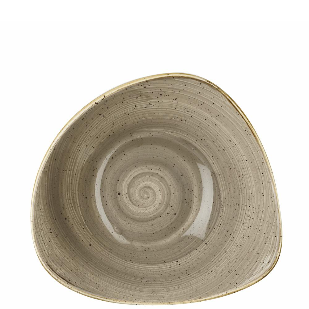 Churchill Stonecast Peppercorn Grey Lotus Bowl