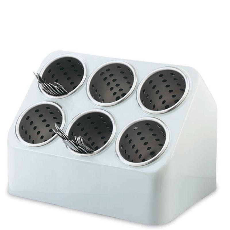 Cutlery Container 6 Hole Stainless Steel