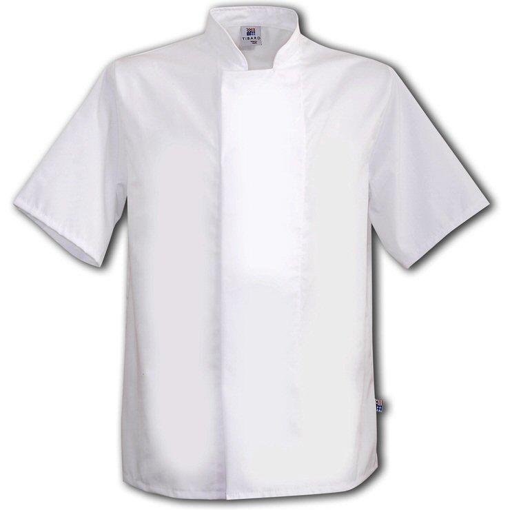 Tibard White Coolmax Chefs Jacket Short Sleeve
