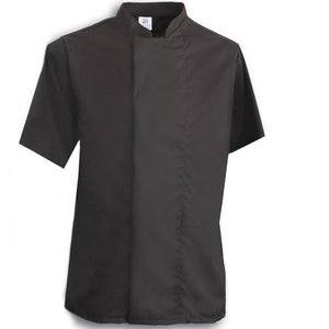 Tibard Black Coolmax Chefs Jacket Short Sleeve