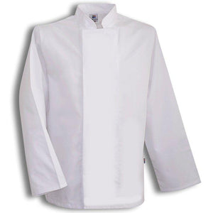 Tibard White Coolmax Chefs Jacket Long Sleeve