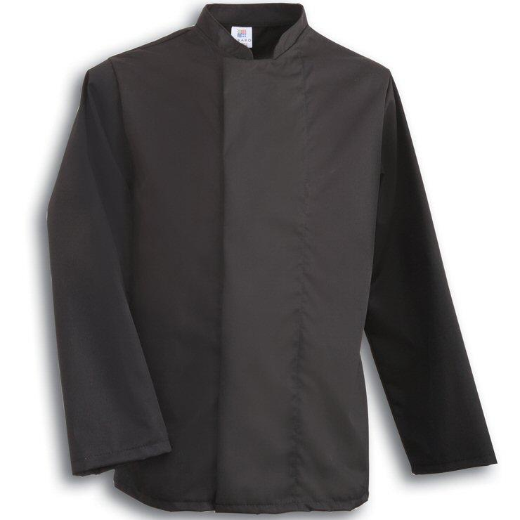 Tibard Black Coolmax Chefs Jacket Long Sleeve