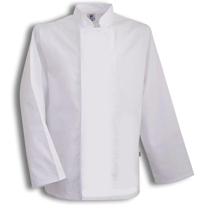 Tibard White Classic Chefs Jacket Long Sleeve