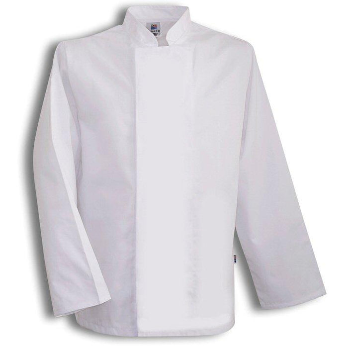 Tibard White Chefs Jacket Long Sleeve