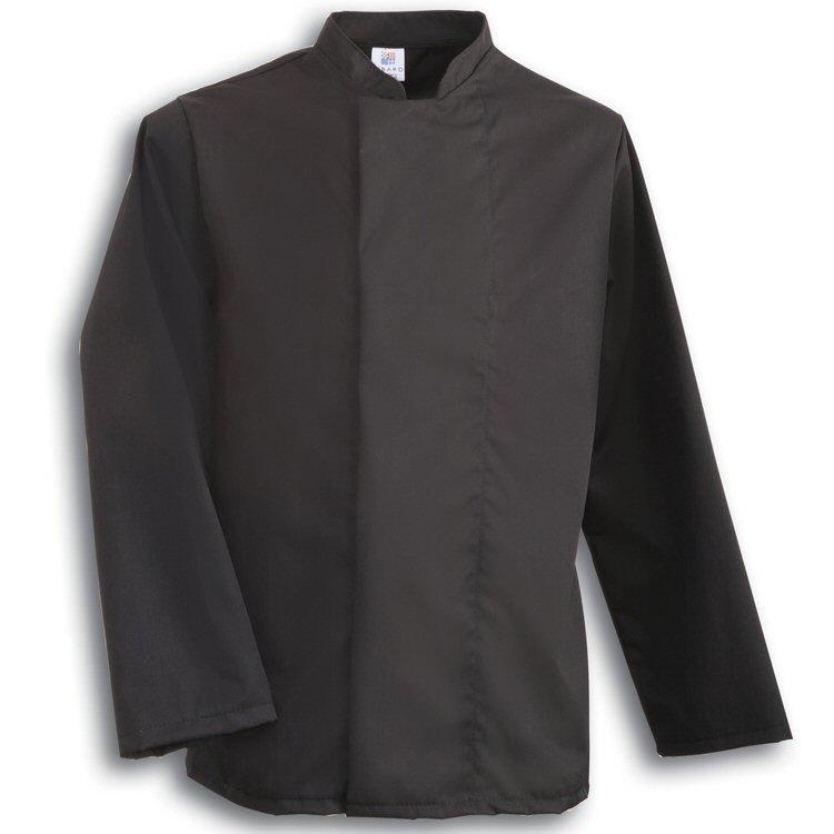 Tibard Black Classic Chefs Jacket Long Sleeve