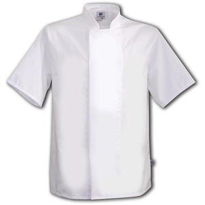 Tibard White Chefs Jacket Short Sleeve